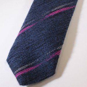 VTG Christian Dior Wool Tie Blue w Pink Swipe, EUC